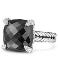 David Yurman - Chatelaine Ring With Semiprecious Stone & Diamonds - Lyst
