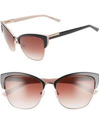 Ted Baker - 57mm Cat Eye Sunglasses - Lyst