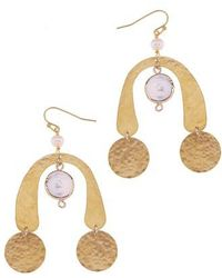 Nakamol | Brass Coin & Freshwater Pearl Statement Earrings | Lyst