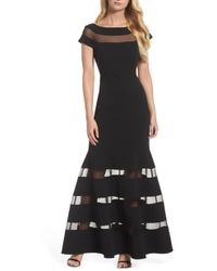 Vince Camuto - Illusion Stripe Trumpet Gown - Lyst
