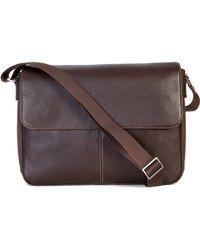 Boconi - Tyler Leather Messenger Bag - Lyst