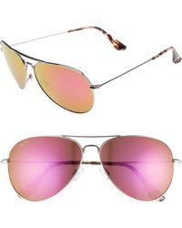 57571e847647 Lyst - Maui Jim Baby Beach Polarized Titanium Aviator Sunglasses in ...