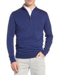 Peter Millar - Crown Quarter Zip Sweater - Lyst