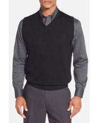 Cutter & Buck - 'douglas' Merino Wool Blend V-neck Sweater Vest - Lyst