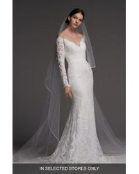 Watters - Visconti Long Sleeve Lace Gown - Lyst