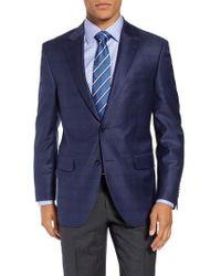 Peter Millar - Flynn Classic Fit Double Windowpane Wool Sport Coat - Lyst