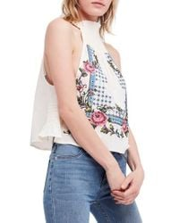 Free People - Honey Pie Embroidered Tank - Lyst
