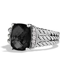 David Yurman - 'wheaton' Ring With Semiprecious Stone & Diamonds - Lyst