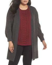 Vince Camuto - Drama Bubble Sleeve Long Cardigan - Lyst
