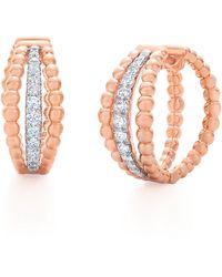 Kwiat - Beaded Multirow Diamond Hoop Earrings - Lyst