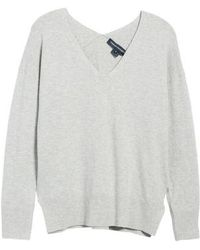 French Connection | Della Vhari V-neck Sweater | Lyst