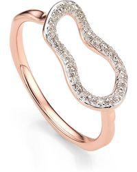 Monica Vinader - Riva Mini Pod Vermeil Diamond Ring - Lyst