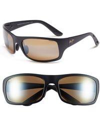 Maui Jim | 'haleakala - Polarizedplus2' Polarized Wrap Sunglasses | Lyst