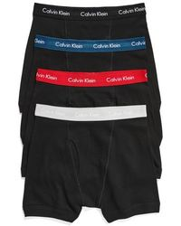 Calvin Klein | Classic 4-pack Cotton Boxer Briefs, White | Lyst