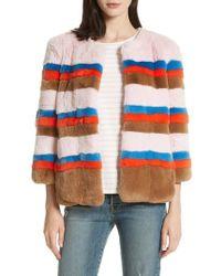 Kule - The Betty Genuine Rabbit Fur Jacket - Lyst