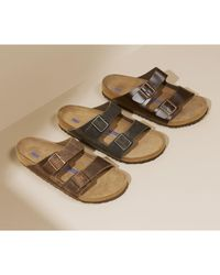 Birkenstock - Arizona Soft Slide Sandal - Lyst