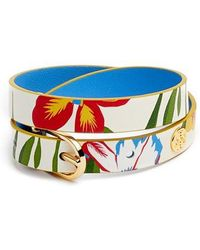Tory Burch - Reversible Leather Double Wrap Bracelet - Lyst