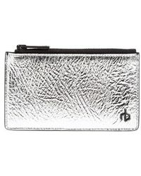 Rag & Bone | Metallic Leather Card Case - Metallic | Lyst