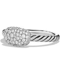 David Yurman - 'petite' Pave Cushion Ring With Diamonds - Lyst