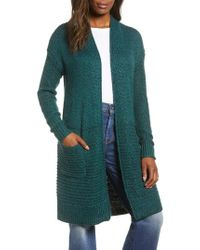 Caslon - Caslon Mixed Stitch Long Cardigan - Lyst