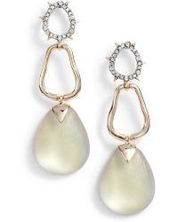 Alexis Bittar | Crystal Lucite Drop Earrings | Lyst