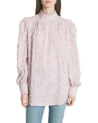 See By Chloé - Embroidered Floral Blouse - Lyst