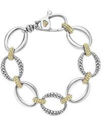 Lagos - Link 2-tone Bracelet - Lyst