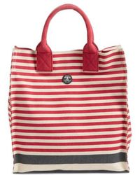Barbour - Coast Striped Canvas Tote - Lyst