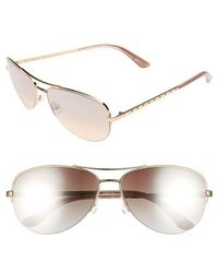 Juicy Couture - Black Label 60mm Gradient Aviator Sunglasses - Light Gold - Lyst