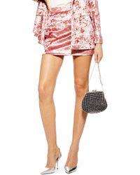TOPSHOP - Bonded Velvet Skirt - Lyst