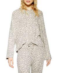 TOPSHOP - Soft Lounge Hooded Sweatshirt - Lyst