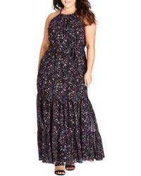 City Chic - Sweet Dreams Maxi Dress - Lyst