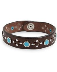 Orciani - Wax Studded Bracelet - Lyst