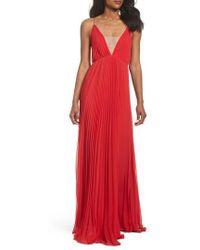 JILL Jill Stuart | Pleated Empire Waist Gown | Lyst
