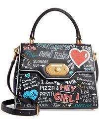 a9978e6bf403 Dolce   Gabbana - Welcome Graffiti Leather Satchel - - Lyst