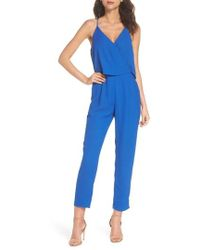 19 Cooper - Deep V-neck Sleeveless Jumpsuit - Lyst