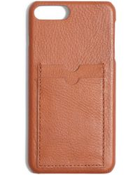 Madewell - Card Slot Leather Iphone 6/7/8 Plus Case - Lyst