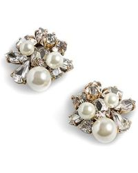 J.Crew | J.crew Imitation Pearl & Crystal Earrings | Lyst