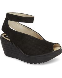 Fly London - 'yala' Perforated Leather Sandal - Lyst