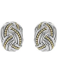 Lagos - Torsade Rectangle Omega Clip Earrings - Lyst