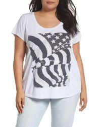 Lucky Brand - Flag Graphic Tee - Lyst