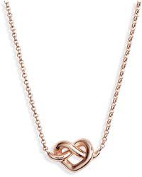 Kate Spade - Loves Me Knot Mini Pendant Necklace - Lyst