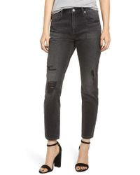 Blank NYC - Rivington Ripped High Waist Tapered Jeans - Lyst