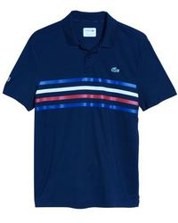 Lacoste - Sport Colored Bands Technical Pique Tennis Polo - Lyst