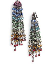 Oscar de la Renta - Crystal Cascade Waterfall Drop Earrings - Lyst