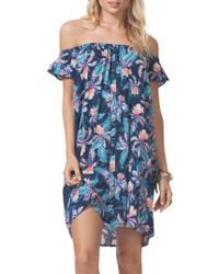 Rip Curl - Tropic Off The Shoulder Cover-up Dress - Lyst