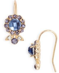 Jenny Packham - Halo Drop Earrings - Lyst