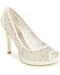 Adrianna Papell - 'foxy' Crystal Embellished Peeptoe Pump - Lyst
