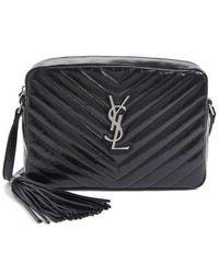 Saint Laurent - Medium Lou Matelasse Calfskin Leather Camera Bag - Lyst