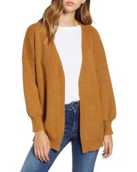 Dreamers By Debut - Balloon Sleeve Cardigan - Lyst
